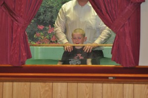 Bro. Joseph Epley being baptized by Pastor Young.