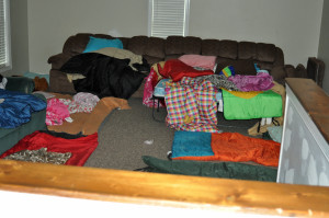 The girls dorm unattended.  What a disaster!!!