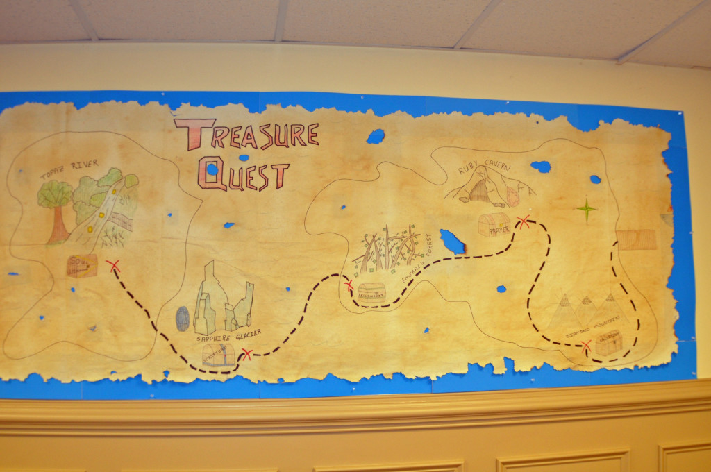 Theme for Vacation Bible School was Treasure Quest. Each day we went on a treasure quest and we found the treasure of salvation, prayer, fellowship, Scripture, and soul-winning.