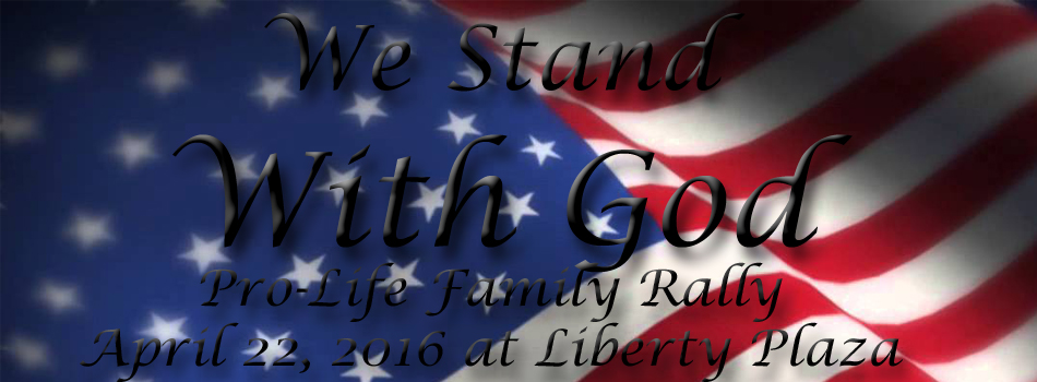 We stand with God rally